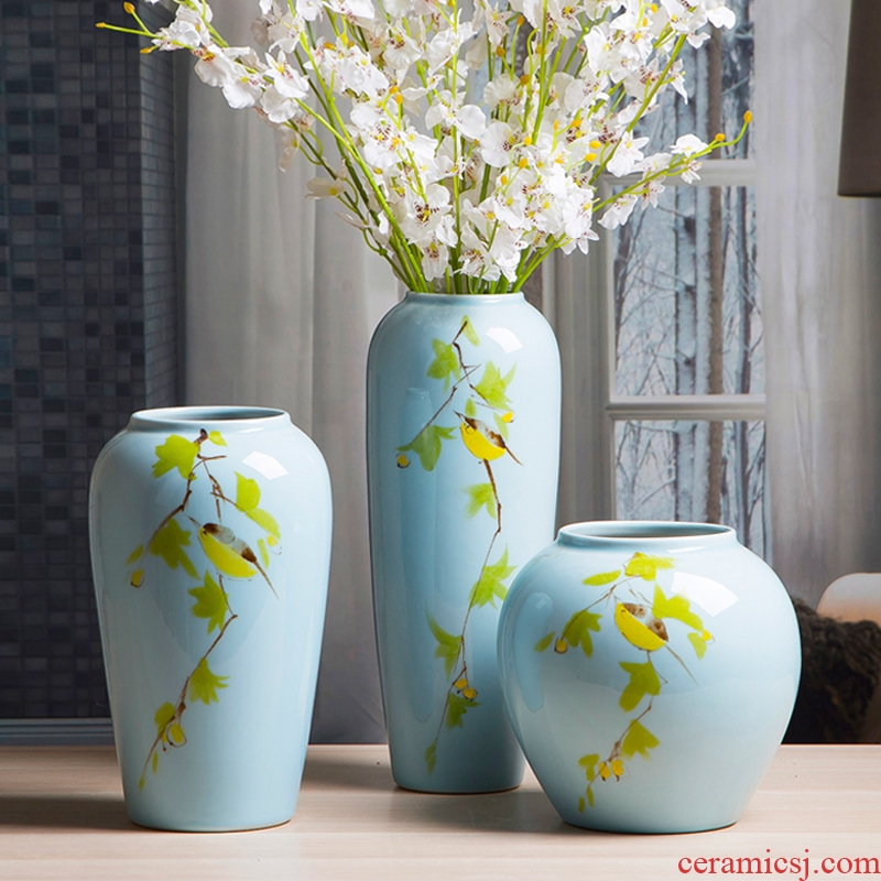 Jingdezhen ceramic vases, new Chinese style household act the role ofing is tasted furnishing articles living room table porcelain office decoration ceramic bottle