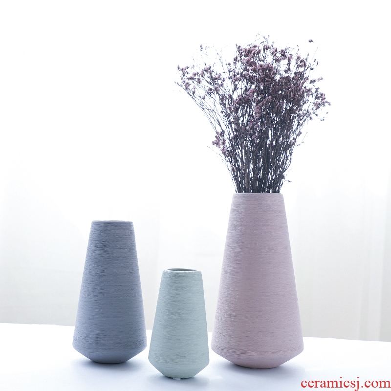 Nan sheng I and contracted ceramic vase simulation flowers, dried flowers, household act the role ofing is tasted furnishing articles mesa adornment handicraft