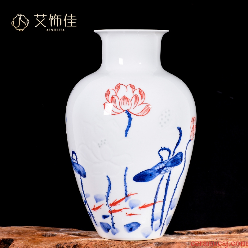 Hand knife clay master of jingdezhen ceramic vase household of Chinese style of sitting room porch rich ancient frame craft supplies