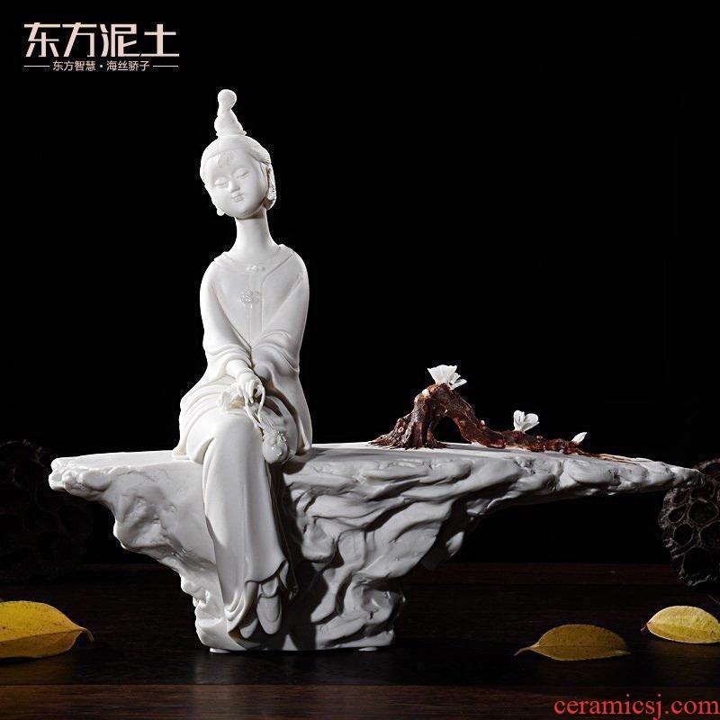 Zen Oriental soil dehua white porcelain its art ceramics decorating beaming D46 furnishing articles/- 129