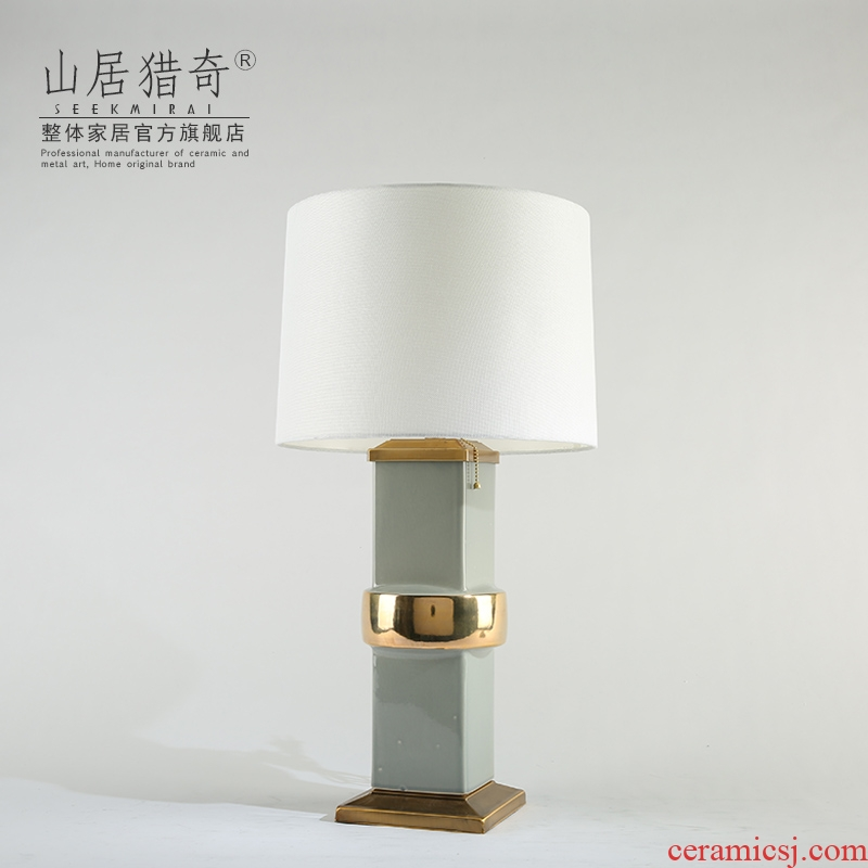 I and contracted Nordic household act the role ofing is tasted, the new Chinese style living room decoration lamp is placed between example ceramic lamp