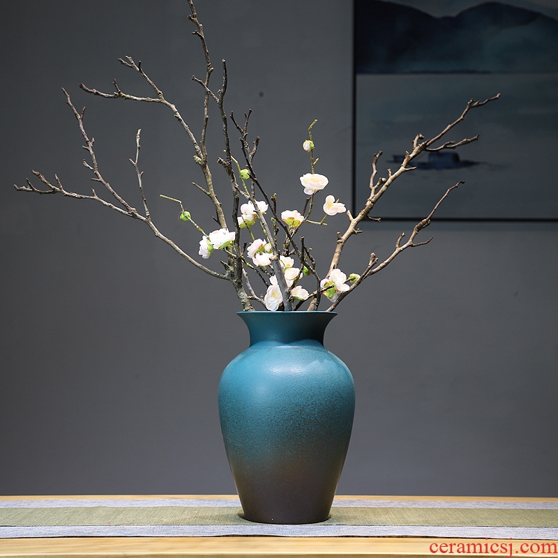 The New Chinese zen ceramic vase dry twigs flowers in the sitting room porch household soft adornment I and contracted furnishing articles