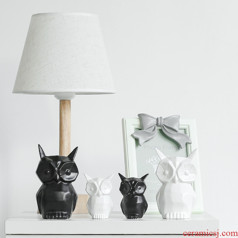 Nan sheng Nordic I and contracted animal ceramic furnishing articles sitting room adornment household act the role ofing is tasted mesa gift owl