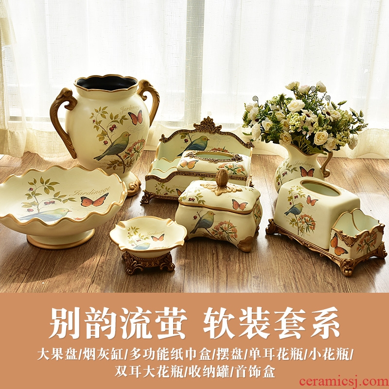 American ceramic restoring ancient ways furnishing articles European example room sitting room of TV ark, wine porch household soft adornment ornament