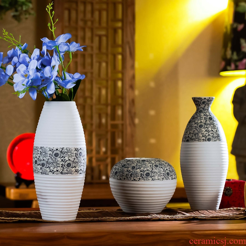 Jingdezhen ceramic vase household act the role ofing is tasted ceramic craft flower, I and contracted ceramic dolls furnishing articles