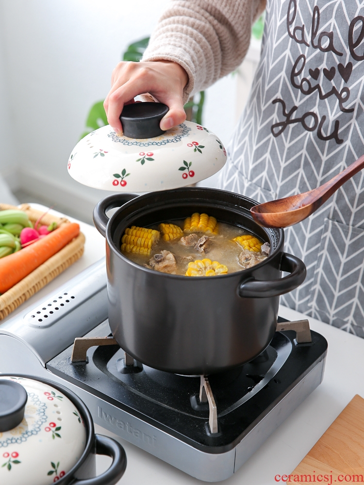 Sichuan in a Japanese sweet cherry ceramic casserole stew soup household gas heat resisting high temperature resistant soup pot casserole