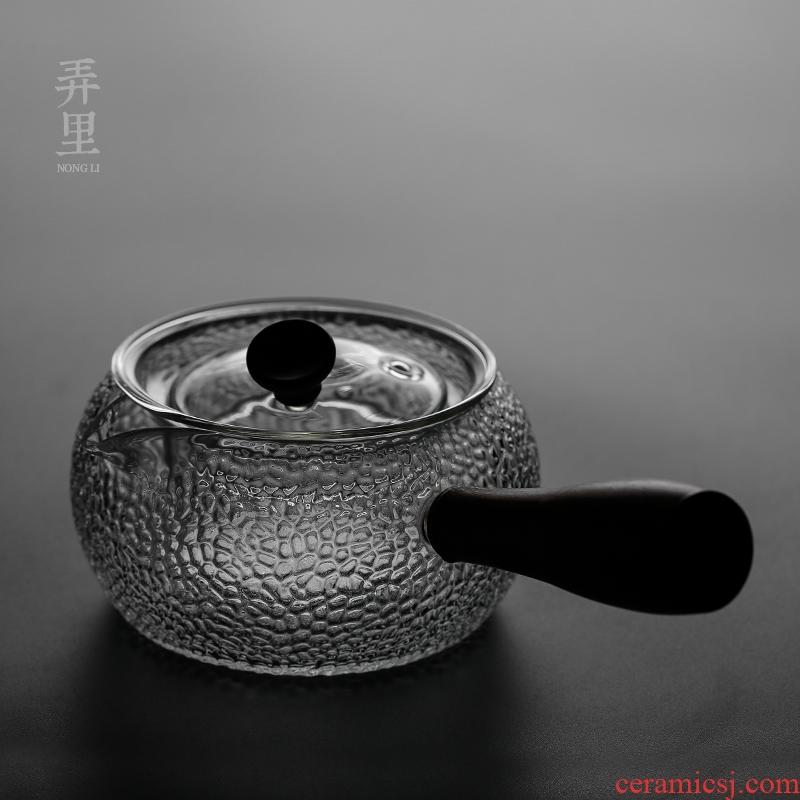 The Heat - resistant glass filter side boil electric TaoLu teapot tea ware hammer high - temperature kung fu tea set