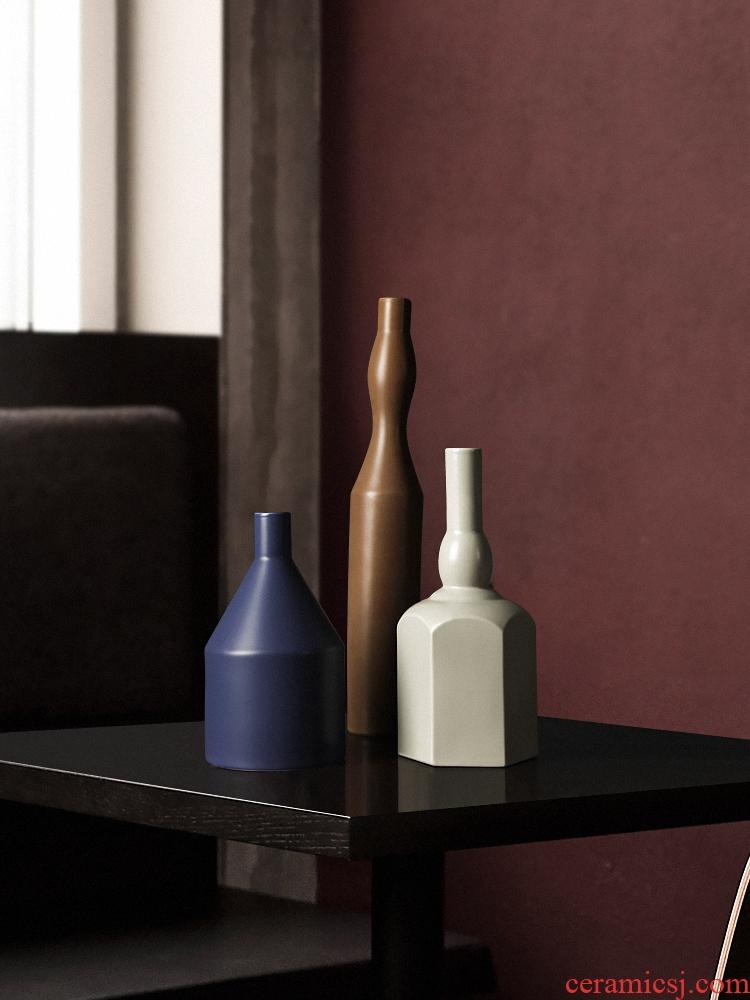 Morandi fastens the Nordic ins manual furnishing articles creative ceramic vase in the sitting room porch decoration decoration