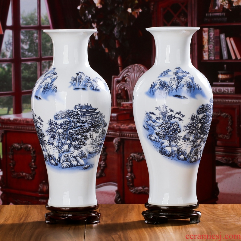 The sitting room porch jingdezhen ceramics vase furnishing articles furnishing articles household act The role ofing is tasted decorate rich ancient frame ceramic arts and crafts