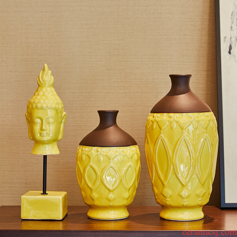 The New Chinese zen Buddha furnishing articles home TV ark, soft adornment sitting room porch ceramic vase decoration restoring ancient ways