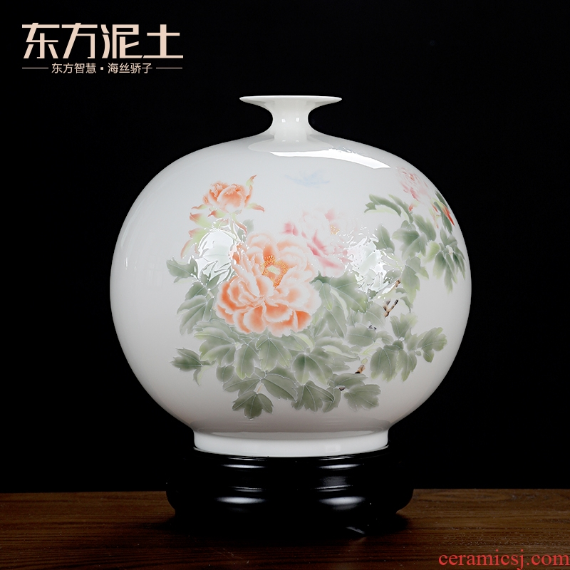Oriental clay ceramic vase furnishing articles Chinese rich ancient frame wine sitting room adornment porcelain technology/wealth and good luck