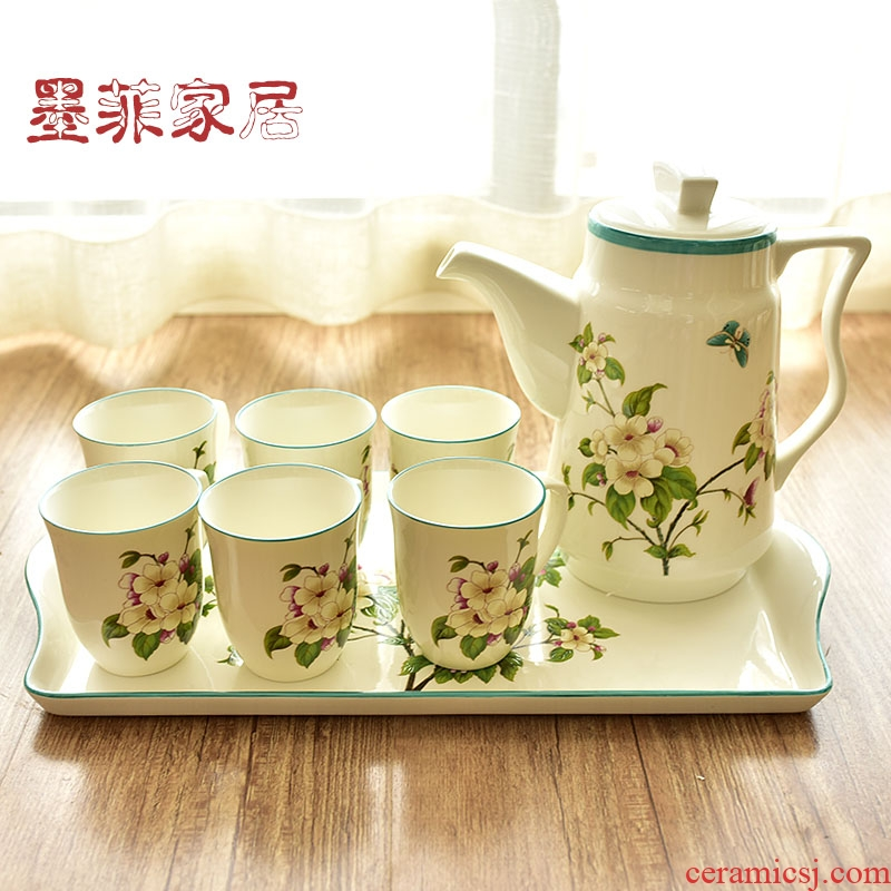 American ceramic tea set practical furnishing articles sitting room tea table table household soft adornment version into gifts