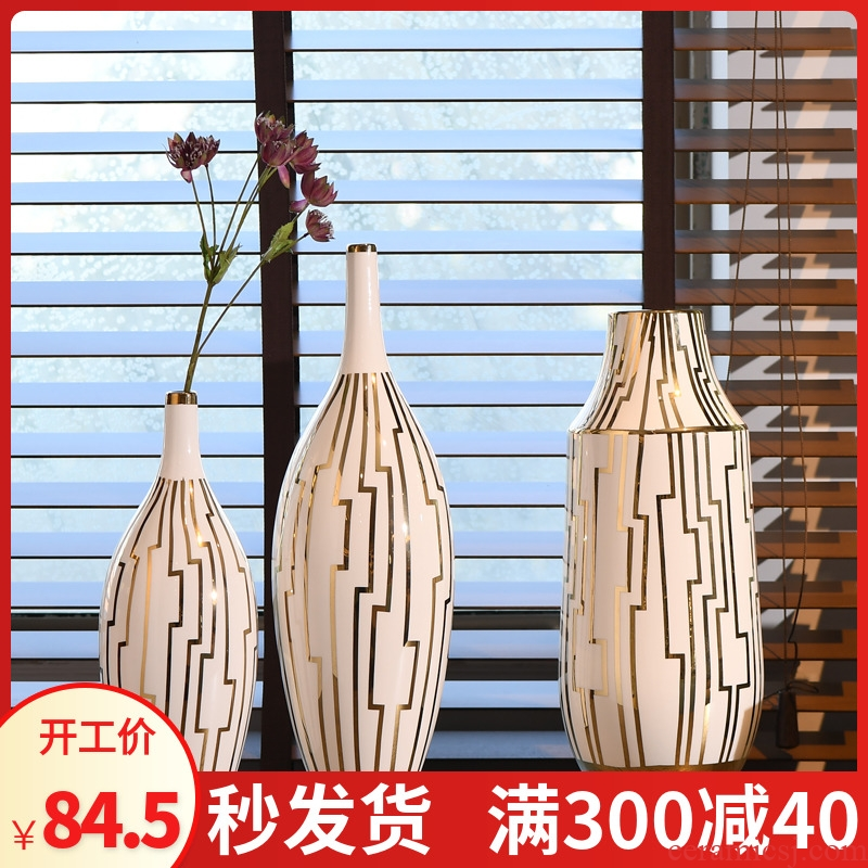 New Chinese style ceramic vase general jar jar, furnishing articles flower arranging rich ancient frame home sitting room adornment