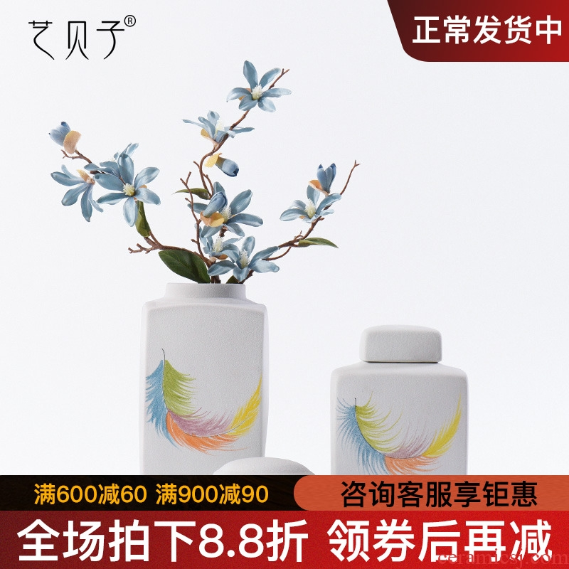 Art BeiZi ceramics vases, I and contracted sitting room porch dried flowers flower arrangement of Chinese style household decorations furnishing articles