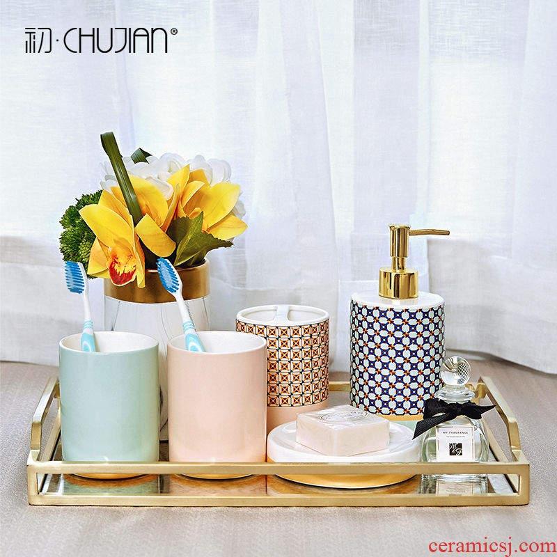 I and contracted set ceramic sanitary ware has five soft adornment bathroom furnishing articles wedding wedding gift girlfriends and practical