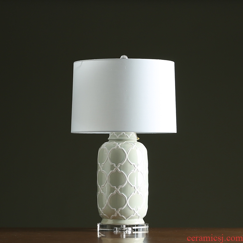 Club example room designer creative lanterns grain ceramic pot sitting room lamp American home furnishing articles