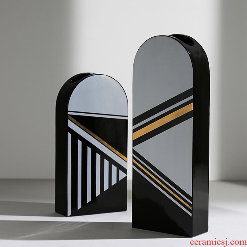 The Arch design ceramic vase example room decoration light dry flower vase key-2 luxury decoration | BEST WEST