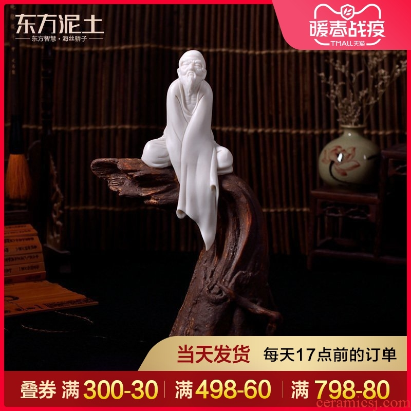 Oriental clay ceramic zen characters of new Chinese style furnishing articles dehua porcelain its art/Gao Songxing thought