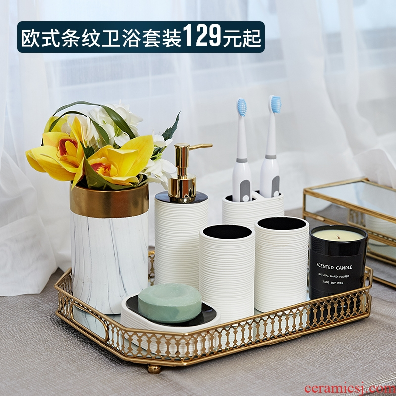 Modern ceramic sanitary ware suit bathroom toilet practical furnishing articles home decoration ideas sink for wash gargle cup