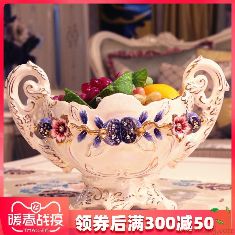 European ceramic plate paint made fruit bowl sitting room style restoring ancient ways wedding set auger pomegranate ivory porcelain fruit bowl