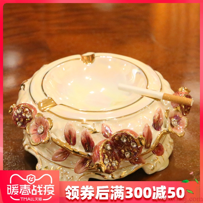 Europe type restoring ancient ways of creative ashtray ceramic home furnishing articles decorative household move wedding gift office sitting room
