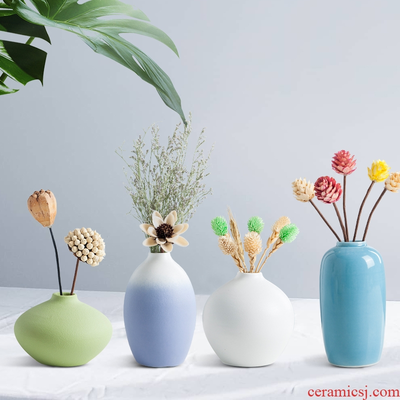 Creative Nordic ceramic vase ins wind porch place the dried flower arrangement sitting room desktop vases, I and contracted