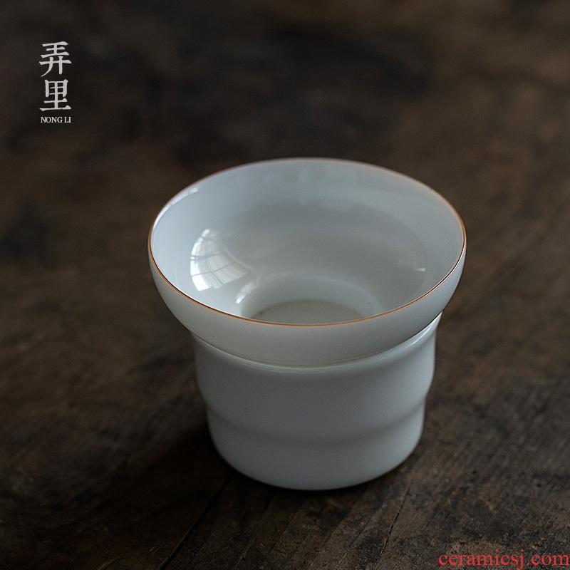 Sweet white porcelain of jingdezhen) kung fu tea accessories tea strainer dry terms sheet is tasted tea tea strainer filter