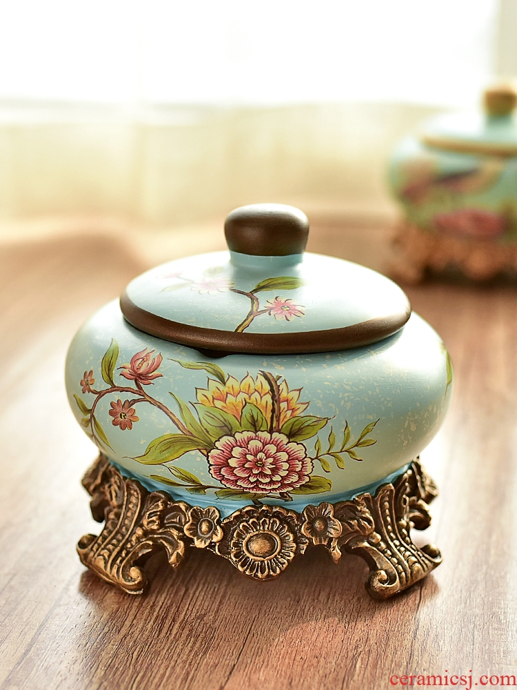 With cover against the fly ash ashtray artical ceramic creative jewelry store content box to receive box home decoration furnishing articles