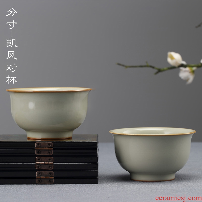 Jingdezhen ceramic cups manually measured your up sample tea cup slicing can raise the master cup from the single CPU