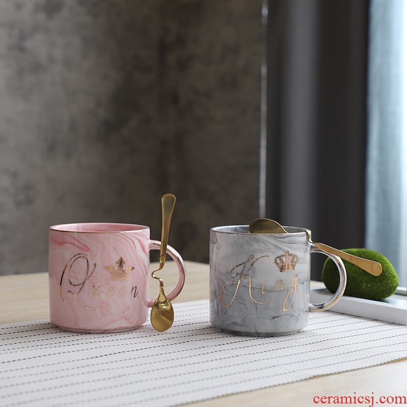 South sheng move Nordic contracted grace ins wind ceramic coffee cup home office keller cup suit couples