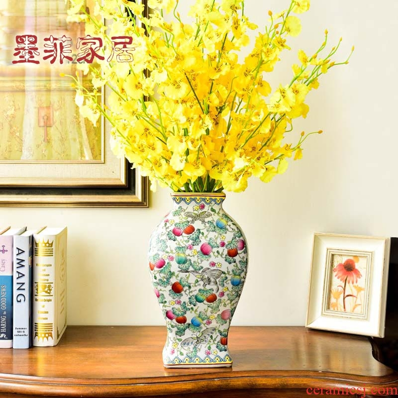 New Chinese style classical hand - made ceramic creative furnishing articles sitting room porch ark, TV ark, household soft adornment ornament