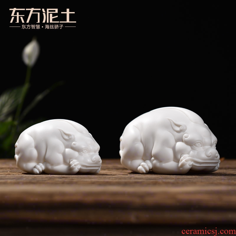 Oriental Chinese style living room soil furnishing articles ceramic crafts office desktop decoration/the mythical wild animal D39-112