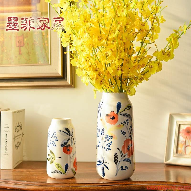 American hand - made ceramic vase furnishing articles European living room table flower arranging flowers, household adornment flowers floret bottle bottle