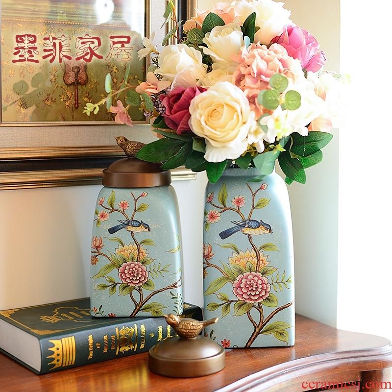 European ceramic vase furnishing articles of American TV ark, sitting room porch wine creative home decoration decoration