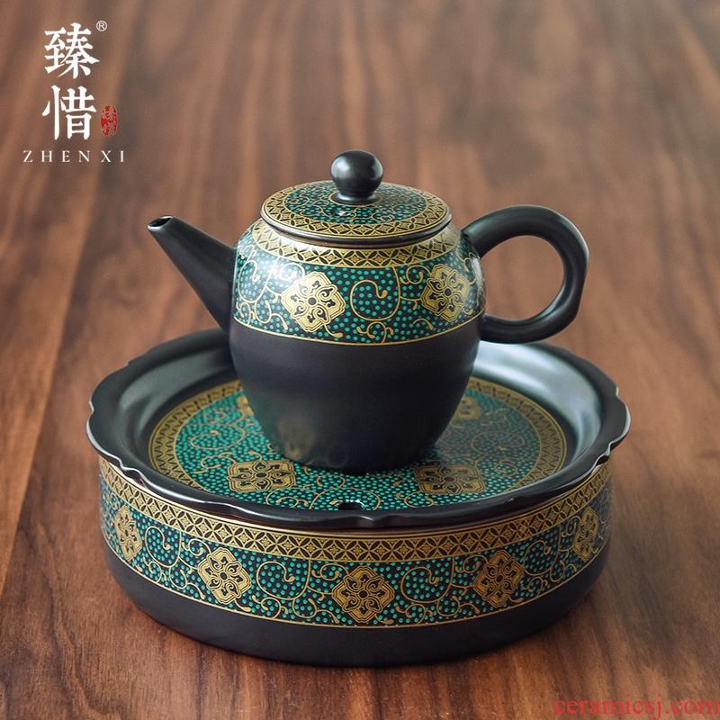 Become precious little to restore ancient ways ancient teapot teacup ceramic kung fu tea set suit household contracted teapot single pot