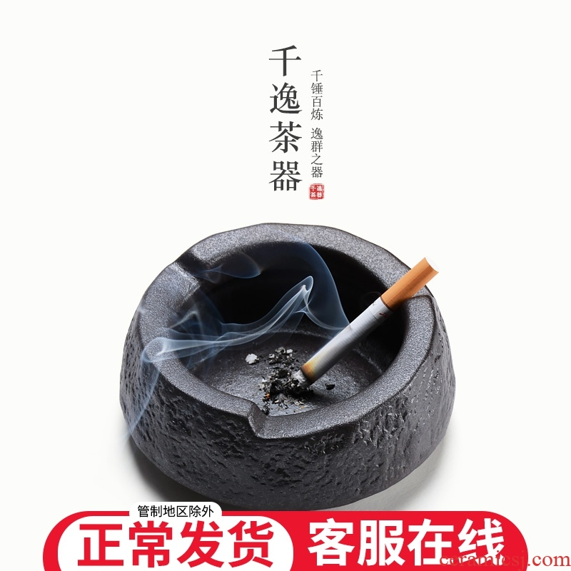 Vintage ashtrays creative home sitting room tea table ceramic ashtray office Chinese wind ashtray male move