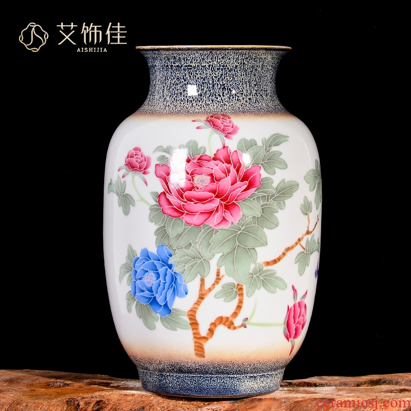 Jingdezhen ceramics up dried flower arranging flowers peony vases, study of new Chinese style porch sitting room adornment is placed