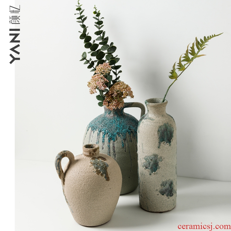 Nordic ins wind home furnishing articles of modern creative living room bedroom office example room Moroccan ceramic vase