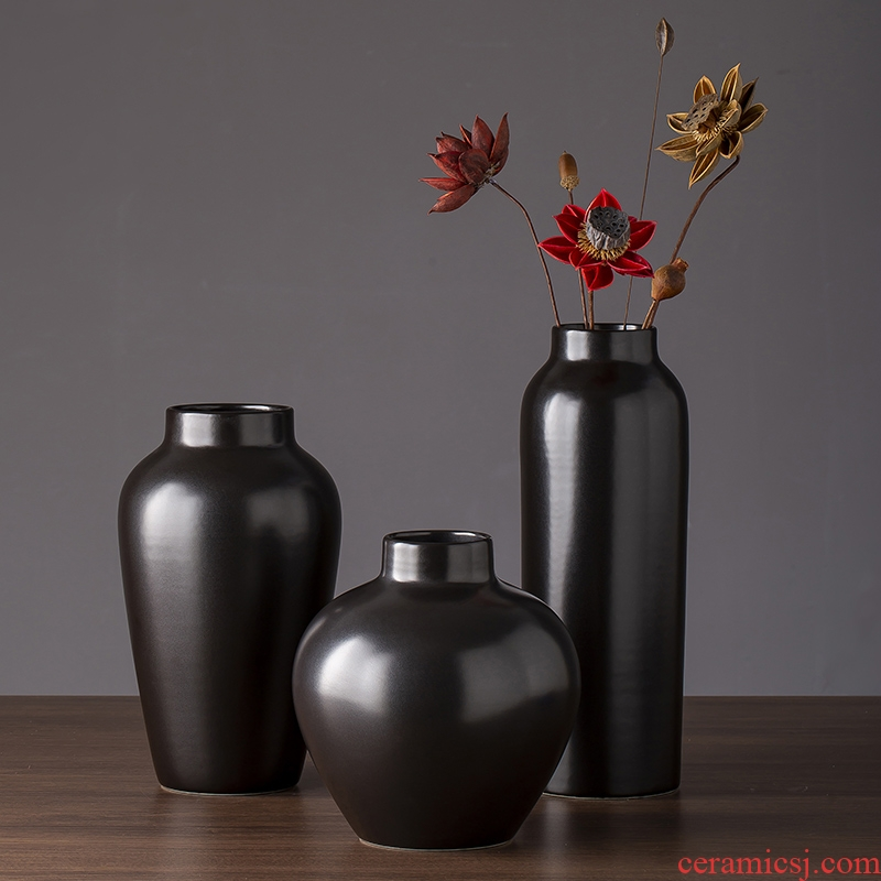 2019 new ceramic vases, black art contracted and I sitting room TV ark of desk creative furnishing articles do the vase