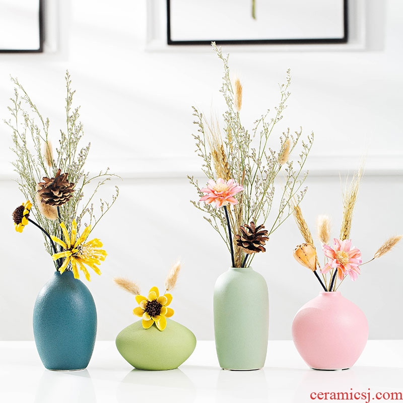 The Ceramic creative floret bottle decoration vase TV ark place dried flower arranging flowers simulation flower I and contracted sitting room