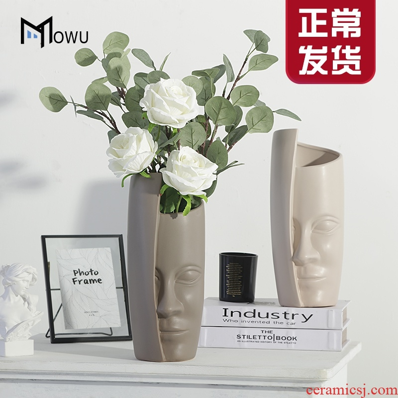 I and contracted ceramic vase furnishing articles like creative its handicraft sitting room ground dried flowers, flower arrangement, decoration