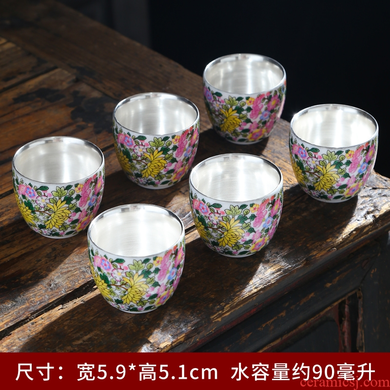 Suet jade cup white porcelain sample tea cup kung fu tea set ceramic cups contracted home office paint masters cup