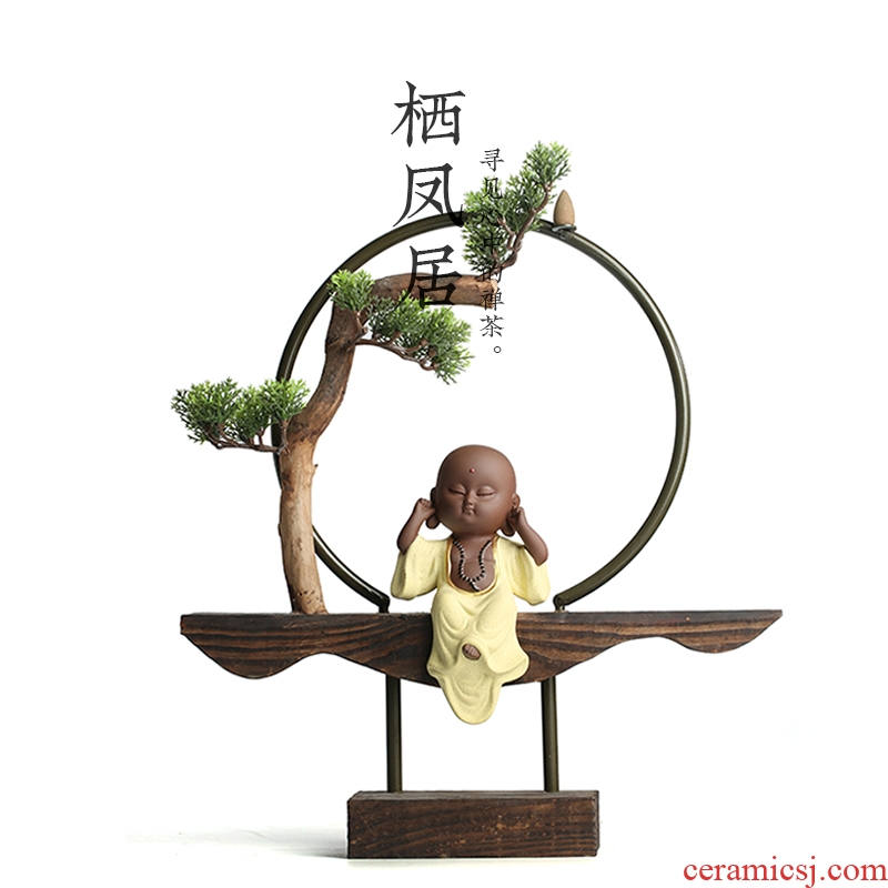 A Live chicken in zen wingceltis backflow censer ceramic household indoor porch tea aroma stove household adornment furnishing articles