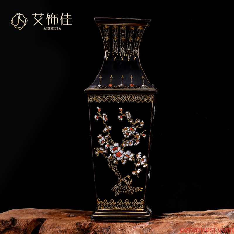 Jingdezhen ceramics archaize square bottle sharply glaze vase Chinese TV ark, sitting room porch collection furnishing articles
