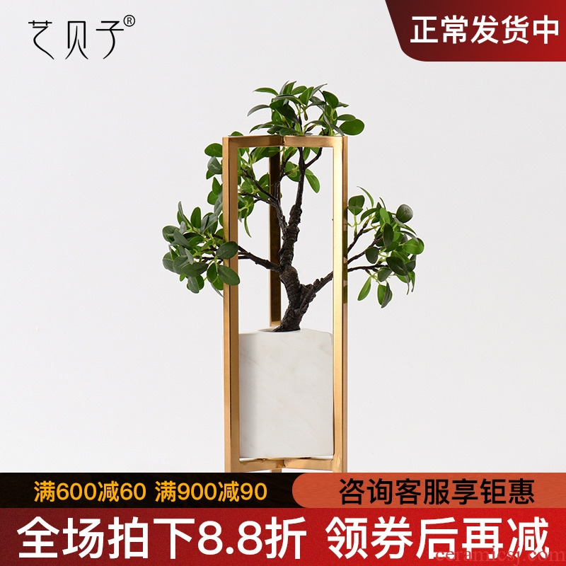 Household act the role ofing is tasted ceramic furnishing articles neo - classical European postmodern the sitting room porch wine marble vase decoration