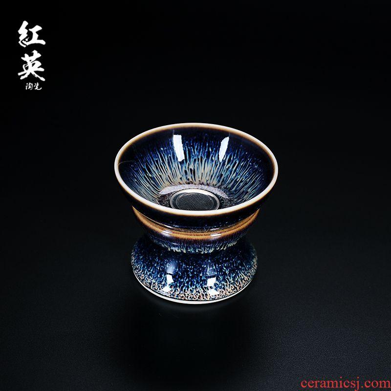 Red the jingdezhen ceramic) filter kung fu tea accessories tea tea tea strainer filter