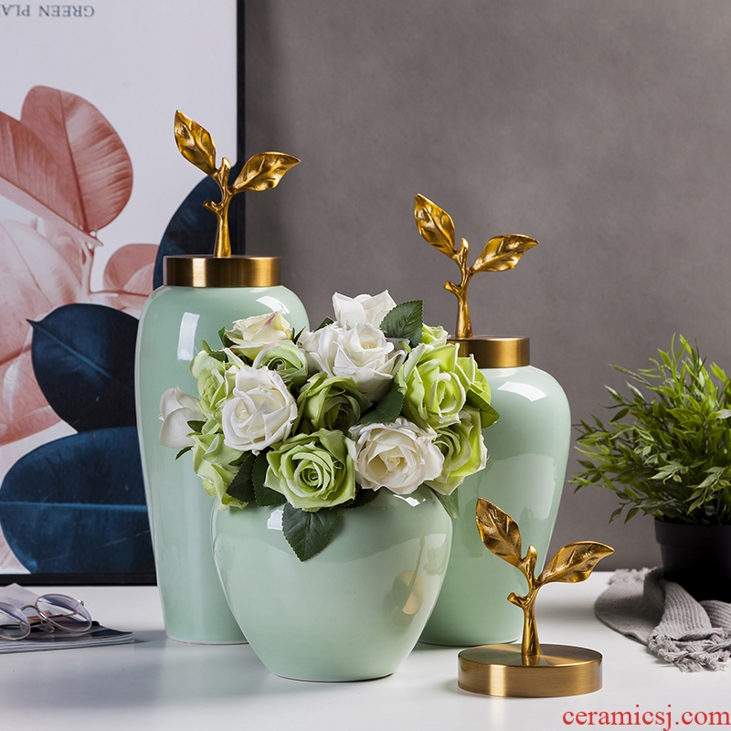 Ceramic vase furnishing articles sitting room porch flower arrangement is Europe type TV ark, home art adornment table dry vase