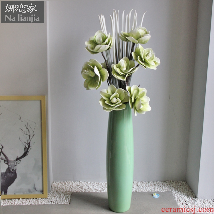 Vase landing light key-2 luxury large vases, the sitting room is I and contracted American ceramic dry flower arranging flowers home furnishing articles