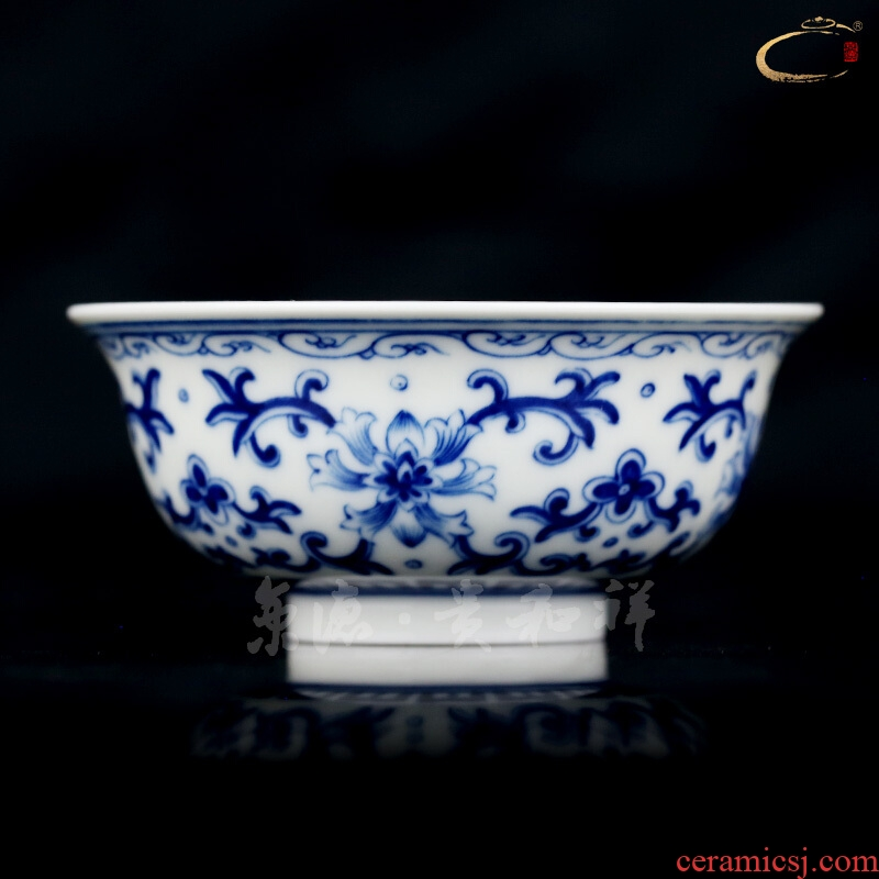 Beijing auspicious jingdezhen ceramics by hand with DE and personal tea cups master cup cup special cup blue tie up branches