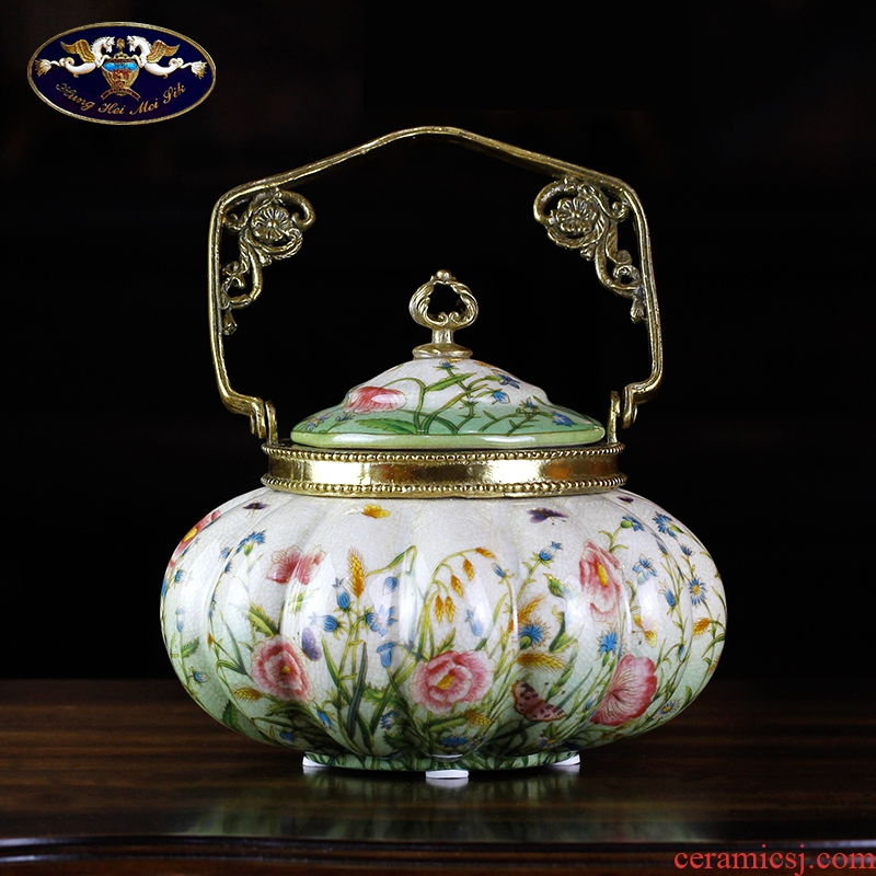 American household paint ceramic handicraft decoration European - style originality with pumpkin cooper, the sitting room porch decoration furnishing articles